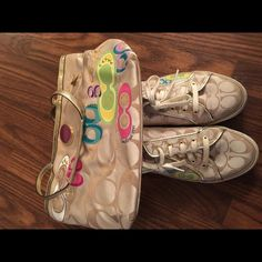 Coach sneakers and handbag bundle Coach sneakers and handbag bundle. Authentic. Just don't carry anymore. Shoes size 10 Coach Shoes Sneakers