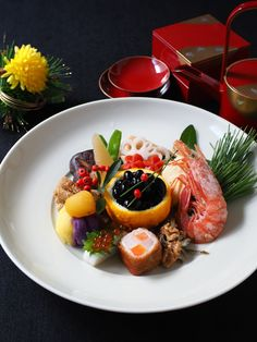 Exceptional Christmas food info are offered on our site. Japanese New Year Food, Japanese Food Sushi, Food For Eyes, Fish Cakes Recipe, Food Art For Kids, Plate Lunch, New Year's Food, Bento Recipes, Aesthetic Food