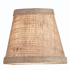 "5"" Burlap Empire Chandelier Shade - 3 Colors - for light in my dining area - like the rustic look"