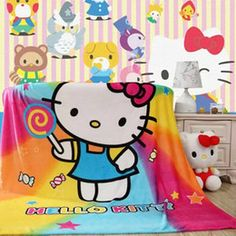 Image result for hello kitty comfy material blanket