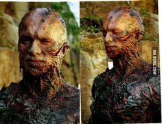 Hayden Christensen's make up from the ending of Episode 3