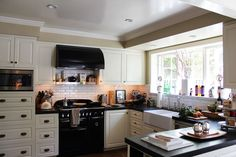 black appliances - rectangular tile
