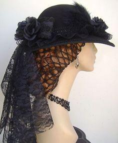 Victorian Dress Hat Civil War Strolling Mourning Lace Passementerie Braid Trim | eBay