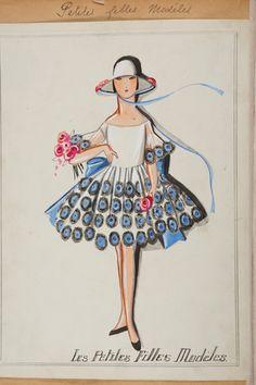 Vintage Lanvin illustration Les Petites Filles Modèles