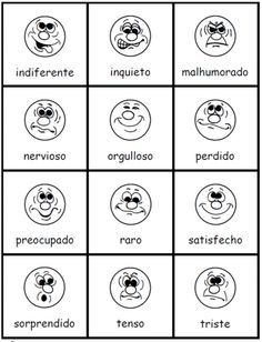 FREE sentimientos activity set with poster, 36 cards, and a translation chart -- easy to download quick at PrintableSpanish.com