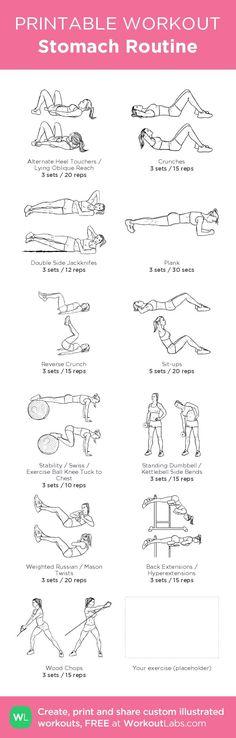 nice Stomach Routine