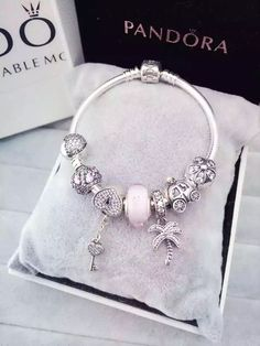 50% OFF!!! $199 Pandora Charm Bracelet Pink. Hot Sale!!! SKU: CB01587 - PANDORA Bracelet Ideas