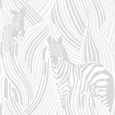 Vallila - Sarastus Wallpaper Collection - Piilossa (available through Stark Carpet in the US) Embossed Wallpaper, Wallpaper Panels, White Wallpaper, Animal Wallpaper, New Wallpaper, Wallpaper Roll, Wallpaper Collection, Buy Wallpaper Online, Interior Design Gallery