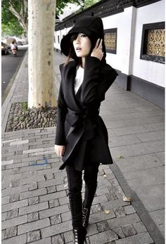 Offer Ends Soon Eye Hooded Belted No-buttons Black Trench Coats  Trench Coats from stylishplus.com