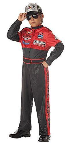 racing champion race car driver child halloween costume size 8 10 medium