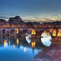 Ponte Sant Angelo in Rome, Italy