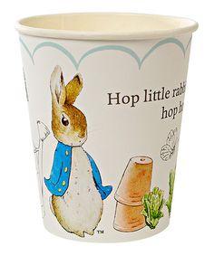 Loving this Peter Rabbit 'Hop Little Rabbit' Cup - Set of 24 on #zulily! #zulilyfinds