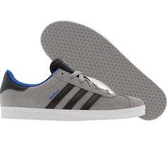 Adidas Gazelle J (aluminum / iron / fresh blue) G21267 - $44.99