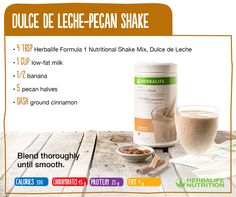 Enjoy our Dulce de Leche-Pecan #HerbalifeShake. Fun fact: Pecans are packed with 19 vitamins and minerals. https://multibra.in/f2kcn