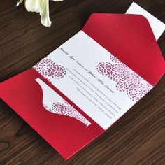 red wedding invitations- All invitations are in JPEG format, which can be used in any software and customized based on your needs. Once you have completed your wedding invitat. Sparkle Wedding, Wedding Nails, Gold Wedding, Dream Wedding, Pocket Invitation, Invitation Suite, Wedding Guest Table, Classic Wedding Invitations, Custom Invitations