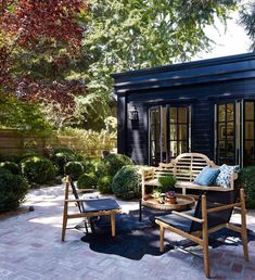 Awesome Ideas For Small Backyard Patio : Inspiring Small Patio Decor Ideas 40 Gorgeous Small Patios Regarding Ideas For Small Backyard Patio Awesome Ideas for Small Backyard Patio Small Patio Design, Small Backyard Patio, Backyard Patio Designs, Back Patio, Backyard Landscaping, Patio Ideas, Backyard Ideas, Courtyard Ideas, Pavers Ideas