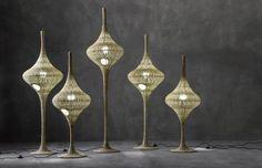 Woven wicker floor lamp SPIN S/M/L Next Collection by Gervasoni design Michael Sodeau Rattan Lamp, Arc Floor Lamps, Black Floor Lamp, Modern Floor Lamps, Cool Floor Lamps, Bamboo Lamp, Rattan Furniture, Furniture Design, Minimalist Home