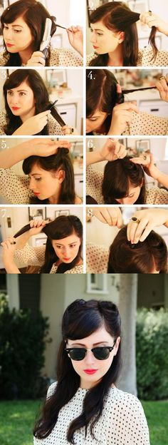 40s hairstyles have been all over the fall runways and filling the pages of magazines, an easy updated version of the 1940′s classic–the victory roll.