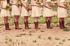 Cowboy boots with the dresses