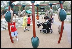 Universal Design Makes Playgrounds Inclusive of Disabilities http://blog.amsvans.com/universal-design-makes-playgrounds-inclusive-of-disabilities/