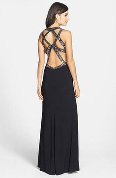 Beautiful gown with sequins. Make an entrance and an exit!