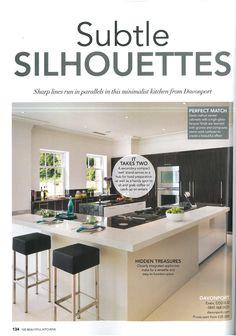 Davonport's distinctive, contemporary Linear collection kitchen in Period Idea's 100 Beautiful Kitchens magazine.