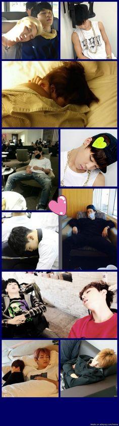 Jimin a.k.a Chim Chim sleeping beauty