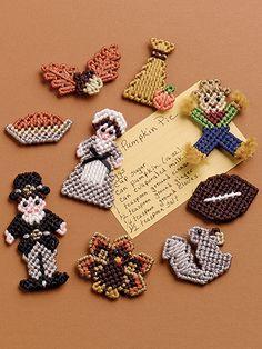 Plastic Canvas Annies Quilt Block Fridgie Magnets 13 Designs  # 849511  P226