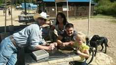 Dog man of K9 Care of Montana w Kellie, Chris,  Karlie and Aspen in Montana