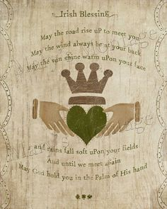 Irish Blessing with claddagh