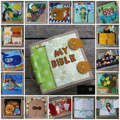 Bible quiet book, church busy book, handmade fabric Bible story