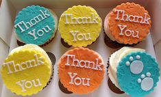 Simple thank you cupcake toppers Thank You Cupcakes, Cookie Jars, No Bake Cake, Cupcake Toppers, Cookies, Baking, Simple, Desserts, Food