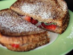 Mascarpone, Strawberry, and Basil Grilled Cheese Sandwiches Recipe on Yummly
