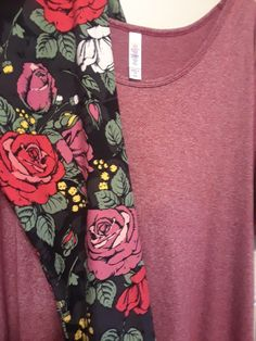 Classic and leggings so gorgeous!!! #lularoe #style #roses  #leggings