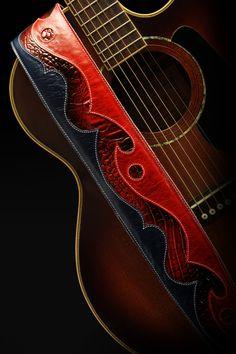Cuero correa de guitarra correa de la por EthosCustomBrands en Etsy