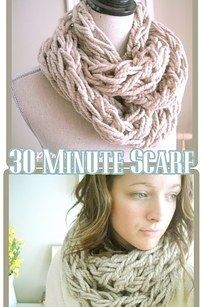 Arm knit a scarf in 30 minutes. | The 52 Easiest And Quickest DIY Projects Of All Time