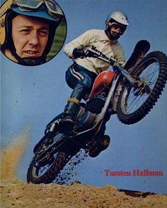 1972- Torsten Hallman THOR Enduro Motocross, Motocross Racing, Dirt Bike Racing, Off Road Racing, Vintage Bikes, Vintage Motorcycles, Bmx Pedals, Vintage Motocross, Dirt Bikes