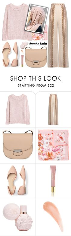 """So cozy!!!!"" by samra-bv ❤ liked on Polyvore featuring H&M, Jonathan Simkhai, CÉLINE, Salvatore Ferragamo, AERIN, polyvorecommunity, polyvoreeditorial, polyvorecontest, chunkyknits and EidMubarek"