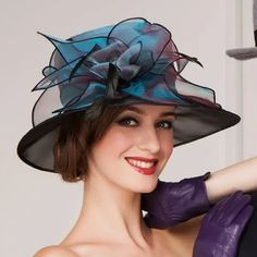 0683f6b05a063 JJsHouse Ladies  Beautiful Spring Summer Autumn Organza with Feather Bowler  Cloche Hat