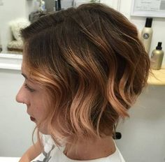 light+copper+balayage+for+short+brown+hair
