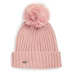 df59f655487 Calvin Klein Pom-Pom Beanie ( 34) ❤ liked on Polyvore featuring accessories