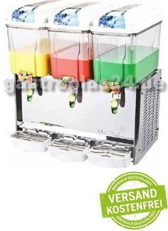 Diese Saftmaschine ist ideal als Spender für Getränke…