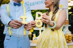 vintage wedding ideas yellow and turquoise summer
