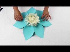 Paper Flower Tutorial Using Template #5 - YouTube