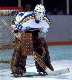 Phil Myre / St Louis Blues Ice Hockey Teams, Hockey Goalie, Hockey Games, Hockey Players, Nhl, Funny Hockey Memes, Goalie Mask, Sports Uniforms, St Louis Blues