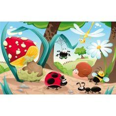 papier peint chambre bébé - Drôles les petites bêtes!