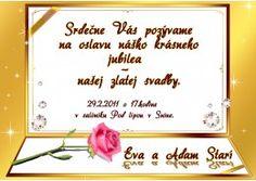 Pozvánka na oslavu jubilea - JU007