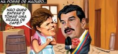 Dilma na posse de Maduro...
