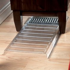 """Furnace Vent Extender ~~ Tired of spending good money heating the underside of your furniture and drapes? This furnace vent extender moves the valuable warm air out where it can do some good. Unbreakable plastic vent extender expands from 20"""" - 36"""". 11"""" wide x 1"""" high."""