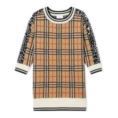 Burberry Kids Check & Leopard Merino Wool Sweater Dress Burberry Outfit, Burberry Kids, Merino Wool Sweater, Wool Sweaters, Winter Wardrobe, Knit Dress, Wool Blend, Knitwear, Mens Tops